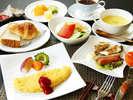 朝からモリモリ!1日のパワーの源です!~洋朝食の一例~