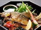 【川魚の塩焼き】季節によって、鮎や岩魚をご用意いたします。