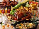 秋の食材を堪能できるディナービュッフェ