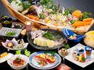【磯香会席】伊勢海老料理2品に相差大漁舟盛り+焼き貝♪鯛香草蒸しも付いてしっかり12品