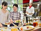 フレッシュ野菜やアツアツのオムレツ、博多名物など多彩なメニューの朝食ブッフェをお楽しみください。