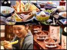 旬の食材でご用意する四季夕膳会席に舌鼓。プラン特典の利き酒セットで京都の地酒も堪能!(イメージ)