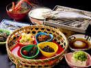 うえ久特製和食膳(朝食)は朝からお変わりする方が続出!1日の始まりは美味しい朝食から!