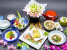 """和食処""""凛""""で季節のメニューをご用意してお待ちしています"""