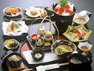 *【お料理一例】山形の地元の食材をふんだんに使用した和風懐石料理をご用意いたします。
