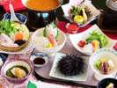 【春のお料理一例】 ウニをはじめ旬のお料理