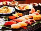 【夕食】レストラン食プラン≪お寿司膳イメージ≫※ネタは季節や当日の仕入により替わります