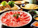 【夕食】レストラン食プラン≪牛しゃぶしゃぶ膳イメージ≫(写真は2人前)