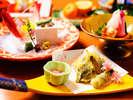 【夕食】お部屋食プラン揚げ物一例
