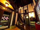 離れ客室一例【空】倉をイメージした内装。メゾネットタイプです。