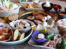 阿波尾鶏や阿波牛、鳴門鯛に大浅利など阿波山海の幸を満喫して<イメージ例>