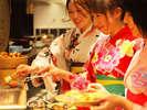 迷っちゃう幸せ♪造里、天婦羅、寿司からご当地スイーツまで90種以上が並ぶ郷土料理バイキング「彩」