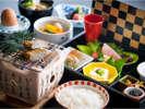 【滋味溢れる朝食】地元の米や大豆を使った手作り豆腐などこだわりの朝食です