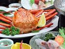 男鹿味真鯛料理・紅ズワイガニ1杯付2
