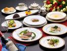 季節の総料理長特選西洋料理コースディナー(例/ワインは含まれません)