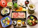 人気!『和食コース(一例)』地元食材をふんだんに使用したお料理です♪