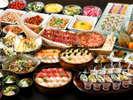 【食べ放題バイキング】夕食・朝食あわせて120種類以上の豪華バイキング!