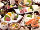 【冬の味覚会席】お値打ち価格!岡山和牛の陶板焼&蟹スキ鍋♪