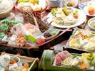 【春の宝石箱会席】小鯛の姿造り・しゃぶしゃぶ・岡山和牛に活鮑・岡山まつり寿司