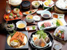 ◆冬のグルメ会席◆冬の旨み3大グルメ☆岡山和牛の陶板焼き!ズワイ蟹!てっちり!