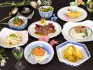 4月~7月◇鳥取特産「梨ワイン」に県産和牛ステーキ、鮮魚を使ったムニエルなど全10品!「三徳 洋風会席」