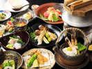 秋の味覚「松茸」を使った会席の一例