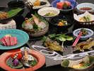 【料理茶屋「北乃寮」】飛騨の2大食材を味わう夏の豪華な会席(イメージ)