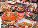 春の贅沢会席一例。チョイス2品をズワイガニとノドグロで選択した例。