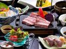 ディナーで提供される石焼ステーキがメインの≪瀬長コース6,800円≫宿泊プランならばお得料金♪