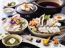 秋の穴子すき鍋コース(料理イメージ)
