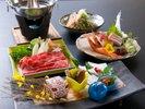 旬の食材が嬉しい、『灰屋』自慢の懐石料理を心ゆくまでお楽しみください。(秋冬の懐石イメージ)