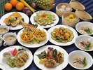 沖縄食材を中華に華麗にアレンジ致しました♪
