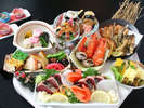 <乙女皿鉢>女性に丁度良いボリュームに仕上げた皿鉢(さわち)料理。