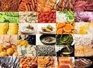 彩りよく、種類も豊富、栄養満点の朝食ラインナップ(一部)
