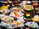女将手作り御膳~夕食一例~季節によって内容が異なります。
