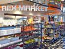 大阪の名物みやげや便利な日用雑貨など、品揃え豊富なレックス商店街は1階に。
