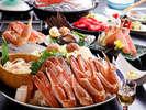 蟹すきのお料理の一例