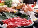 ≪冬の最強コラボ≫但馬牛すき焼&かに刺&焼がに♪♪のお料理の一例