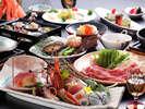 ≪贅沢三昧≫アワビ踊り焼・但馬牛すき焼・鮮魚7種♪の料理の一例