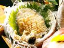 【夕食】アワビのお刺身