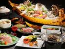 【夕食】貴賓室だけの海鮮会席