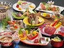 <お夕食>お造り・県内産の真鯛他3種盛×海鮮鍋×国産牛ステーキなど上質素材の特別会席11品★