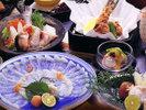 ■ふぐ会席■≪お刺身・鍋・唐揚げ≫3種の調理法で味わう♪冬の人気食材『ふぐ』を使った海鮮会席