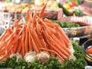 【季節の食べ放題バイキング】定番の蟹も食べ放題