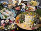 【夕食】お造り付がうれしい絶品ぐるめ(旬海プラン)イカと造りは4名様盛りです。