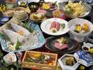 【夕食】佐賀牛ステーキと活きイカの饗宴(味覚三昧プラン)