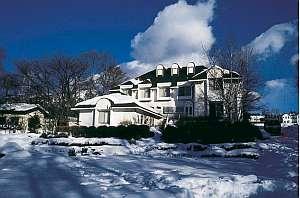 冬の雪景色のアムール