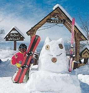 スキー無料レンタルと貸切温泉露天風呂