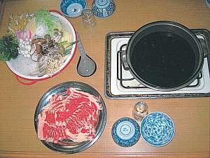夕食の一例(すき焼き)