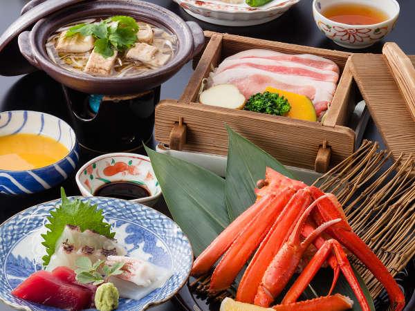 【料理一例】山陰の海・山の幸を料理長が厳選しています。